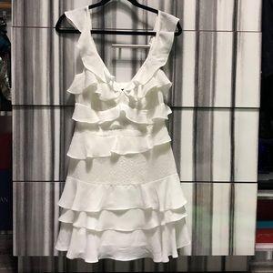 New Bardot white ruffle dress size 8 , never worn